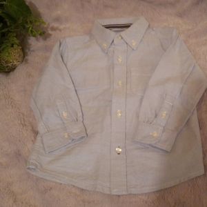 18m-24m longsleeve botton down boys top